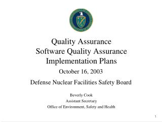 Quality Assurance Software Quality Assurance Implementation Plans