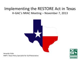 Implementing the RESTORE Act in Texas H-GAC's NRAC Meeting – November 7, 2013