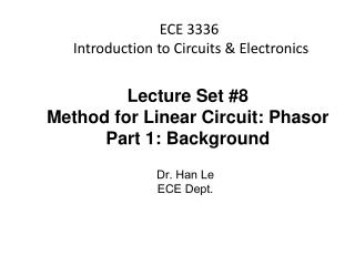 ECE 3336  Introduction to Circuits & Electronics