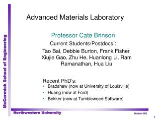 Advanced Materials Laboratory