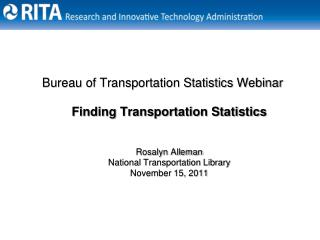 Bureau of Transportation Statistics Webinar