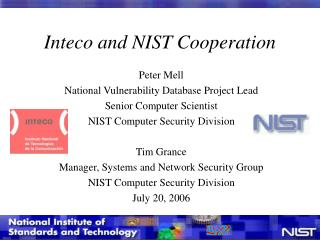 Inteco and NIST Cooperation