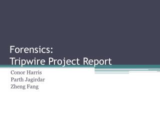 Forensics:  Tripwire Project Report