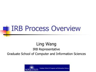 IRB Process Overview