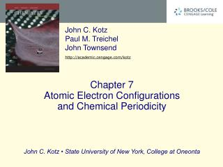 Chapter 7 Atomic Electron Configurations  and Chemical Periodicity