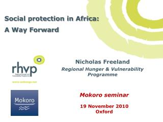 Social protection in Africa:  A Way Forward