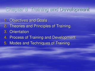 Chapter 8  Training and Development