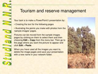 Tourism and reserve management