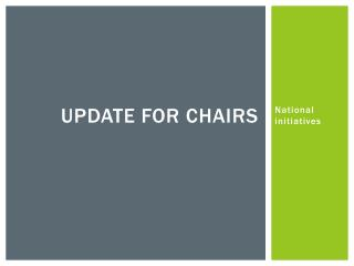 Update for chairs