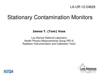 Stationary Contamination Monitors