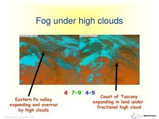 Fog under high clouds