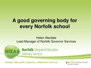 A good governing body for every Norfolk school