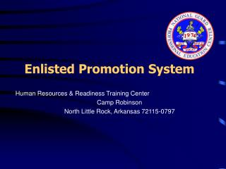Enlisted Promotion System