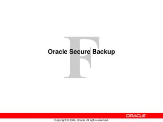 Oracle Secure Backup