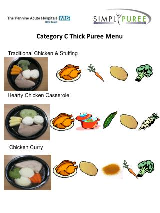 Category C Thick Puree Menu