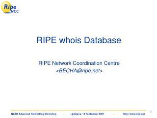 RIPE whois Database