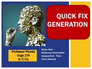 QUICK FIX   GENERATION