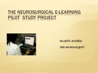 THE NEUROSURGICAL E-LEARNING PILOT  STUDY PROJECT
