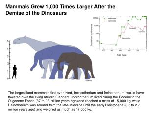 Mammals Grew 1,000 Times Larger After the Demise of the Dinosaurs