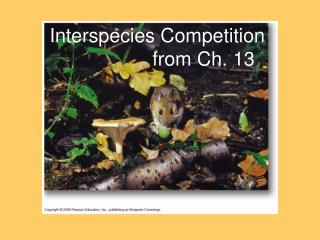 Interspecies Competition                  from Ch. 13