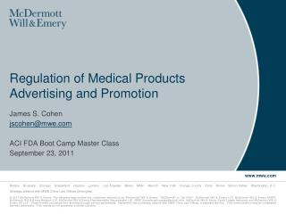 Regulation of Medical Products Advertising and Promotion