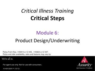 Critical Illness Training Critical Steps