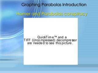 Graphing Parabolas Introduction