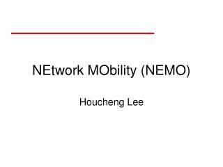 NEtwork MObility (NEMO)