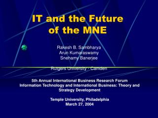 IT and the Future  of the MNE