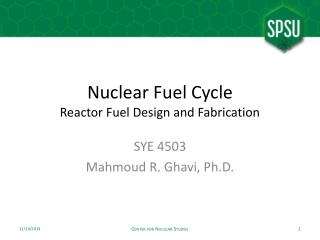 Nuclear Fuel Cycle Reactor Fuel Design and Fabrication