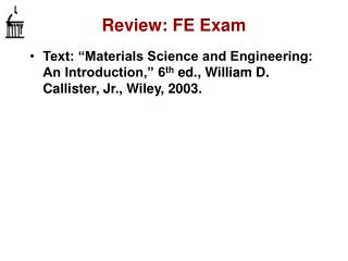 Review: FE Exam