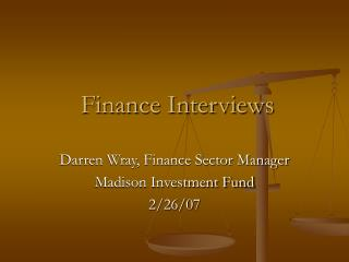 Finance Interviews