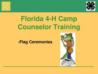 Florida 4-H Camp Counselor Training