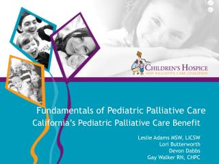 Fundamentals of Pediatric Palliative Care