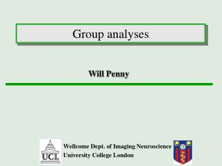 Group analyses