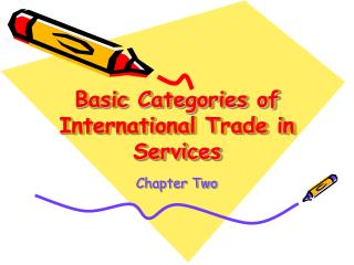 Basic Categories of International Trade in Services