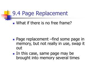 9.4 Page Replacement