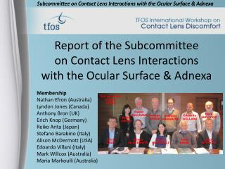 Report of the Subcommittee on Contact Lens Interactions with the Ocular Surface & Adnexa