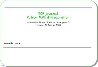 TCP java.net Patron MVC & Procuration