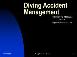 Diving Accident Management