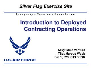 Introduction to Deployed  Contracting Operations