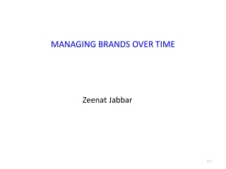 Managing Brands Over Time
