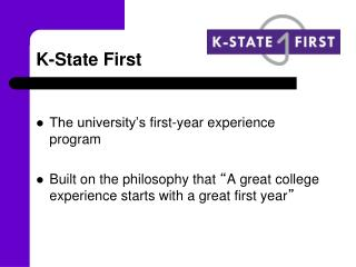 K-State First