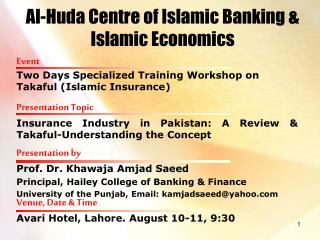 Al-Huda Centre of Islamic Banking & Islamic Economics