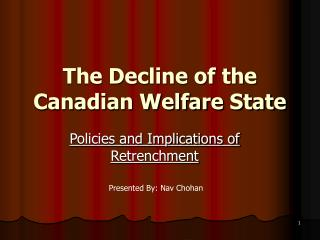 The Decline of the Canadian Welfare State