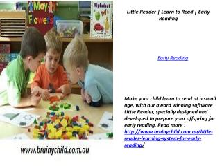 Little Reader | Learn to Read | Early Reading