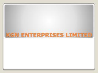 KGN ENTERPRISES LIMITED