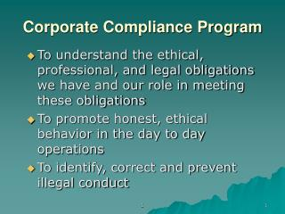Corporate Compliance Program