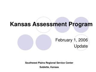 Kansas Assessment Program