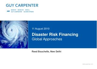 Disaster Risk Financing Global Approaches